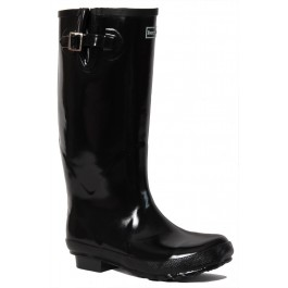 Shiny Black Wellies