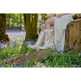 Wedding Wellies with flowers
