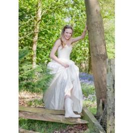 Bride in Wedding Wellies