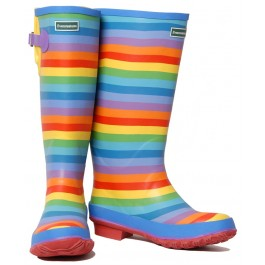 rainbow wellies pair