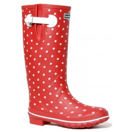 Red Ditsy Dots Wellies