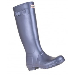Hunter Original Metallic Midnight Blue Wellies Single Angled