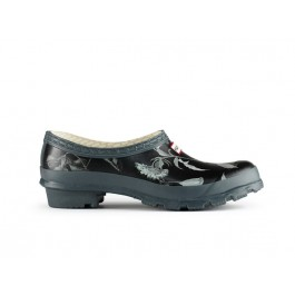 Hunter RHS Clogs Black and Grey