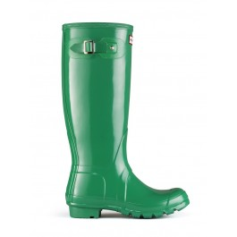 Hunter Original Tall Wellies Gloss - Forest Green