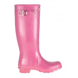 Hunter Original Gloss Wellies Fuchsia