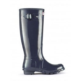 Hunter Original Navy Tall Gloss Wellies