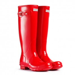 Hunter Original Pillar Box Red Tall Gloss Wellies
