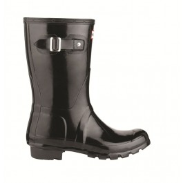 Hunter Gloss Wellies - Original Short Black