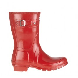 Hunter Gloss Short Wellies Red