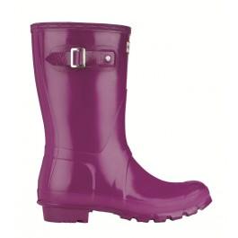 Hunter Gloss Short Wellies Violet