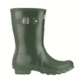 Hunter Gloss Short Wellies Green