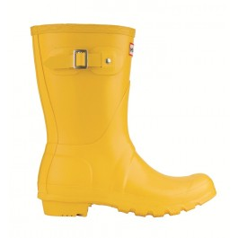 Hunter Gloss Short Wellies Yellow