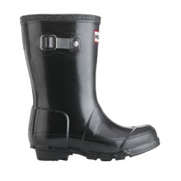 Hunter Kids Wellies Gloss Black