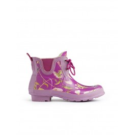 Hunter RHS Pull On Garden Boots - Violet Mix
