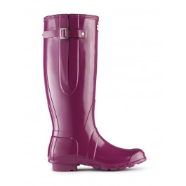 Hunter Original Adjustable Gloss Wellies - VIOLET