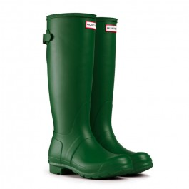 Hunter Original Tall Green Back Adjustable Front View Pair
