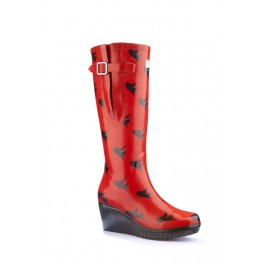 Wedge Welly Wedge Wellies Freedom Flex (wide calf)